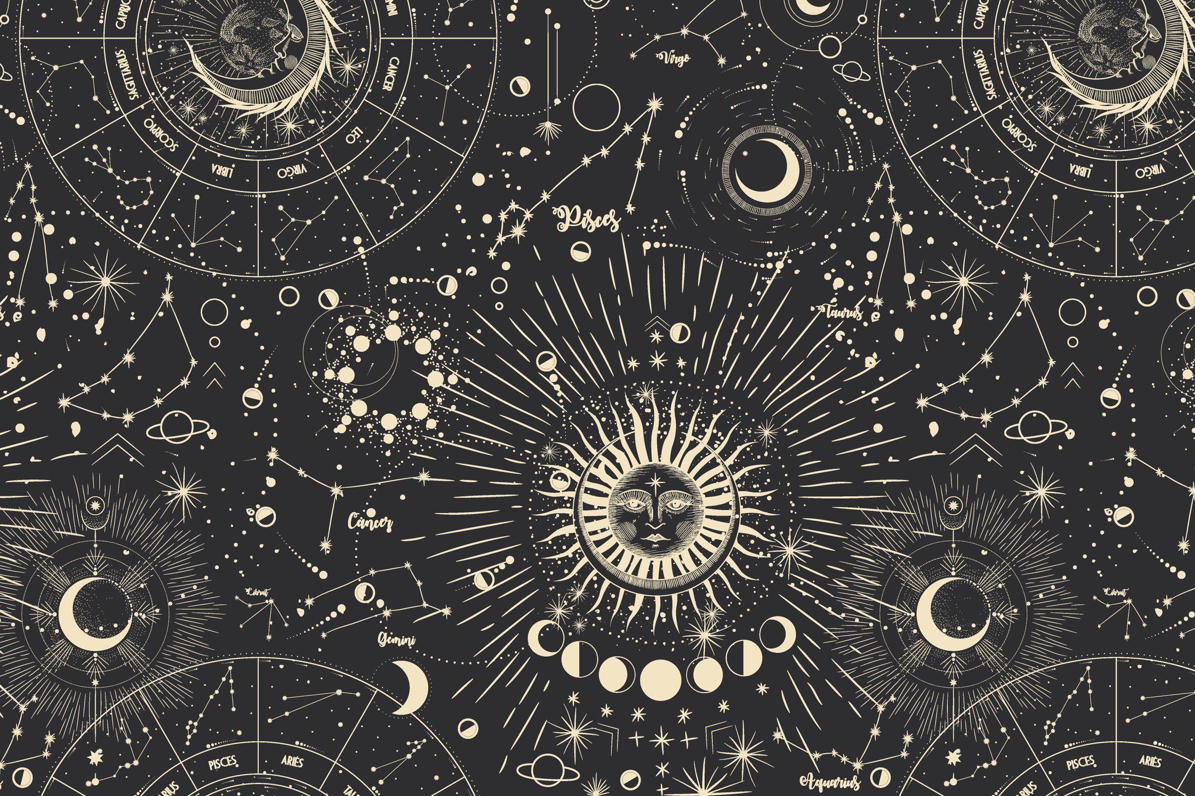 Cosmic Magic Textures Desktop Wallpaper Art Witchy Wallpaper Witch Wallpaper