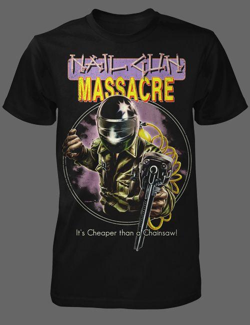 Nail Gun Massacre - FRIGHT-RAGS   Horror stuff   Pinterest   Horror