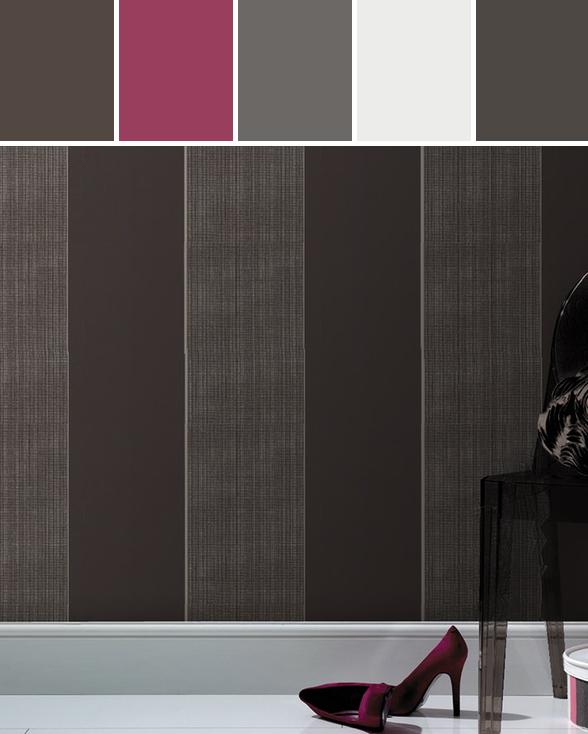 Bold Stripe wallpaper by Kelly Hoppen  Designed By Graham & Brown via Stylyze #colourpalettesilove