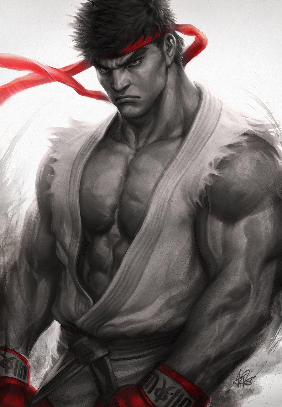 Ryu Fury Digital Art Fribly Ryu Street Fighter Street