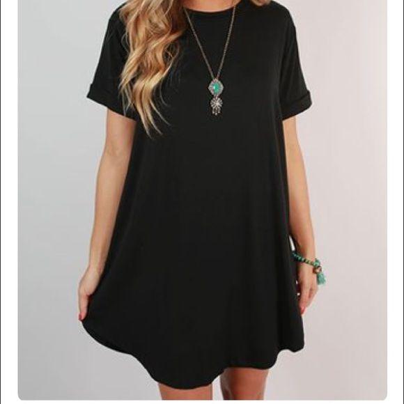 GAP t-shirt dress black t-shirt dress • worn once • [willing to trade] GAP Dresses