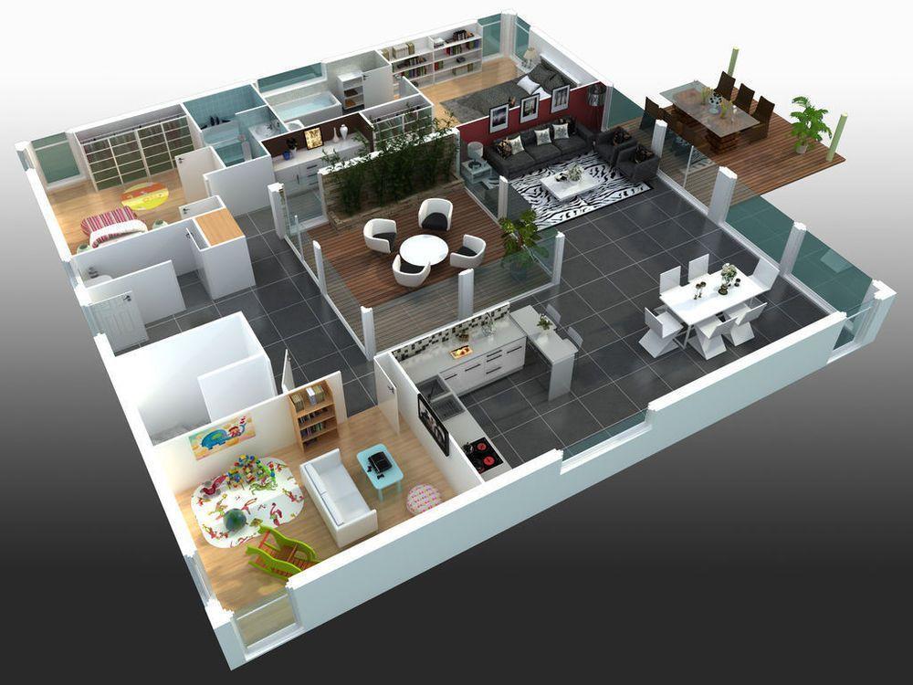 Mod le de maison maisons st phane berger am nagement en 2019 maison maison avec patio et - Maison de 130m2 ...