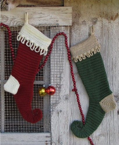 crochet christmas elf stocking | Get Crafty | Pinterest | Crochet ...