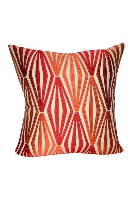 LOOM MILL Orange Diamonds Decorative Pillow 40¡å X 40¡å Enchanting Loom And Mill Decorative Pillows