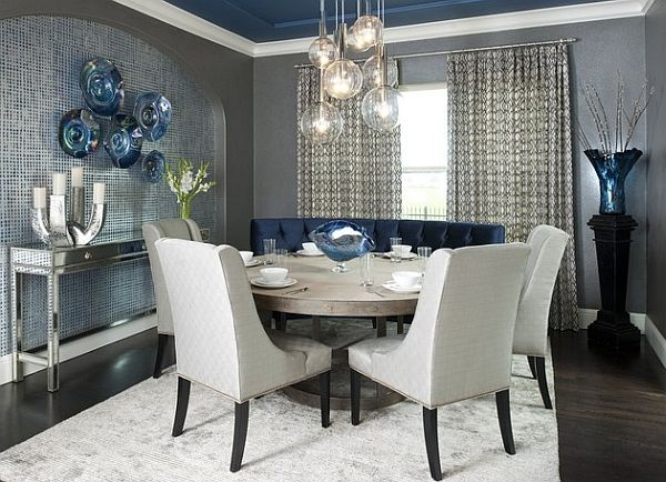 Small Dining Rooms That Save Up On Space Dining Room Blue Elegant Dining Room Dining Room Contemporary