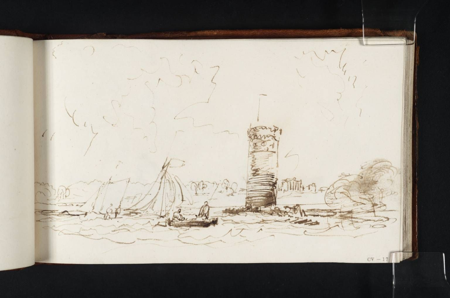 Joseph Mallord William Turner's sketch book image, 'Tabley House ...