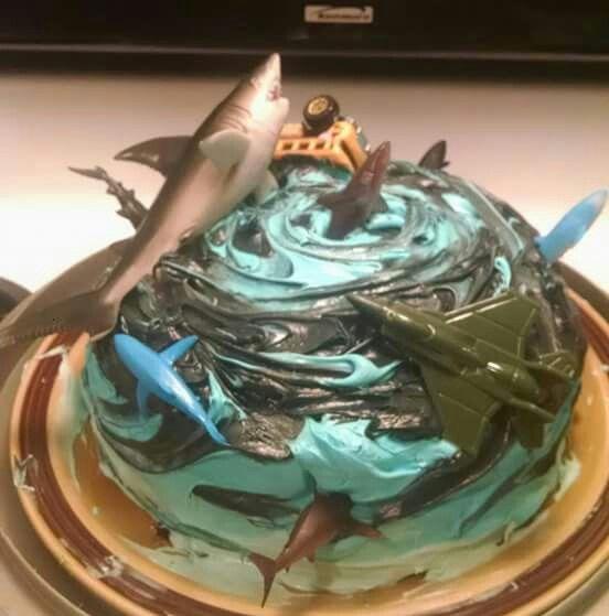 Sharknado Cake With Images Sharknado Party Shark Birthday