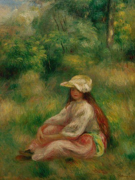 Photo of Artland Kunstdruck Poster »Pierre-Auguste Renoir: Rosa gekleidetes Mädchen« online kaufen | OTTO