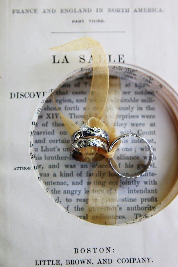 Vintage ring bearer book  | The Entertaining Shoppe
