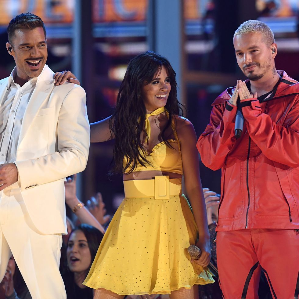 You May Have Missed This Political Message From Camila Cabello S Grammys Performance Ricky Martin Camila Cabello