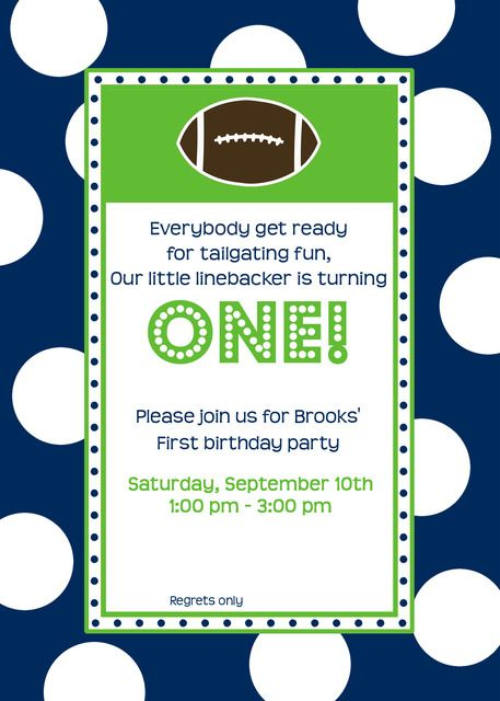 Football Ticket Invitation Template – Football Themed Birthday Invitations