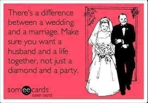 The Difference Between A Wedding And Marriage