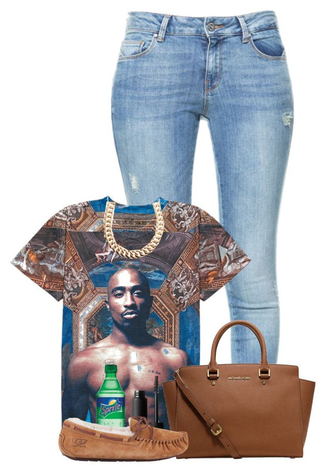 tupac x michael kors x uggs by xxnanaaxx on Polyvore featuring polyvore, fashion, style, Forever 21, Zara, UGG Australia, MICHAEL Michael Kors, Gogo Philip and NARS Cosmetics