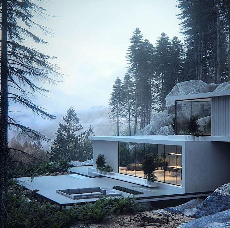 Architektur, Zuhause, Raumgestaltung, Wohnzimmerinnenraum,  Kücheneinrichtung, Architekturdesign, Erstaunliche Architektur, Wohnzimmer  Mit Offener Küche, ...