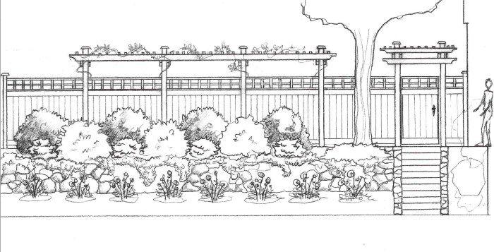 Landscape Sketch Elevation Drawing Landscape Design Drawings Landscape Design Services