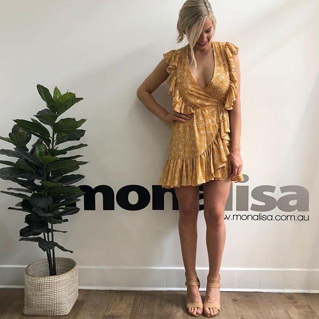 f313b70a8cd7b ONLINE NOW // @shonajoy_ Siena Ruffle Wrap Mini Dress $260 via  @monalisathestore Open