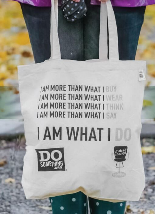 Love this message! ECOBAGS - from Chico Bag. Made from recycled cotton. Reduce, Reuse, and Recycle.