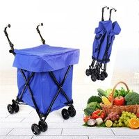 Description: -Robust steel frame construction for strength and durability -Double front swivel wheel
