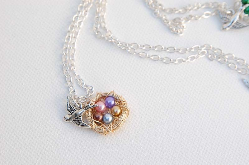 Personalized Nest & Pea Pod Necklaces are 46% off today! Great for the gift giving season or mothers day!