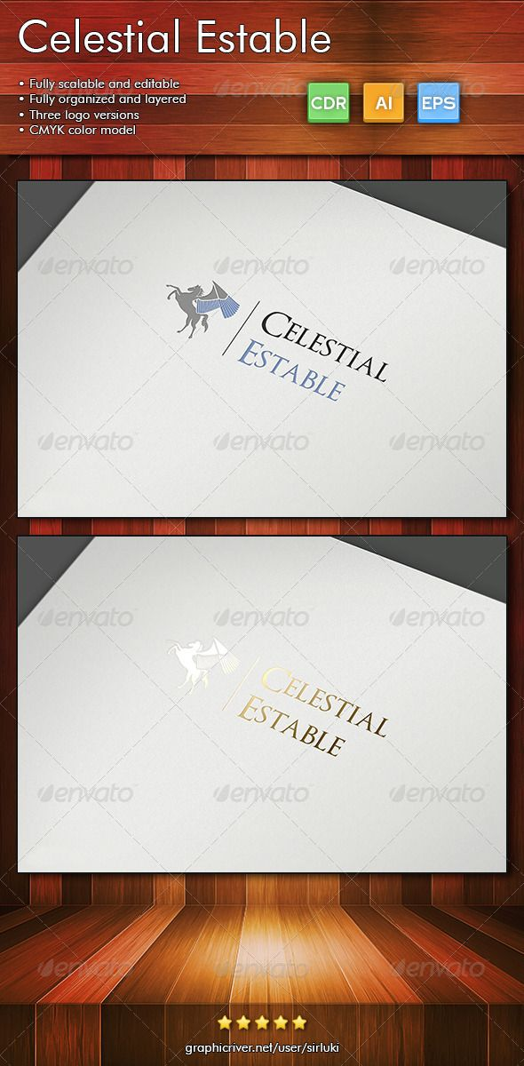 CelestialEstable — Vector EPS #wings #mythology • Available here → https://graphicriver.net/item/celestialestable/2846864?ref=pxcr