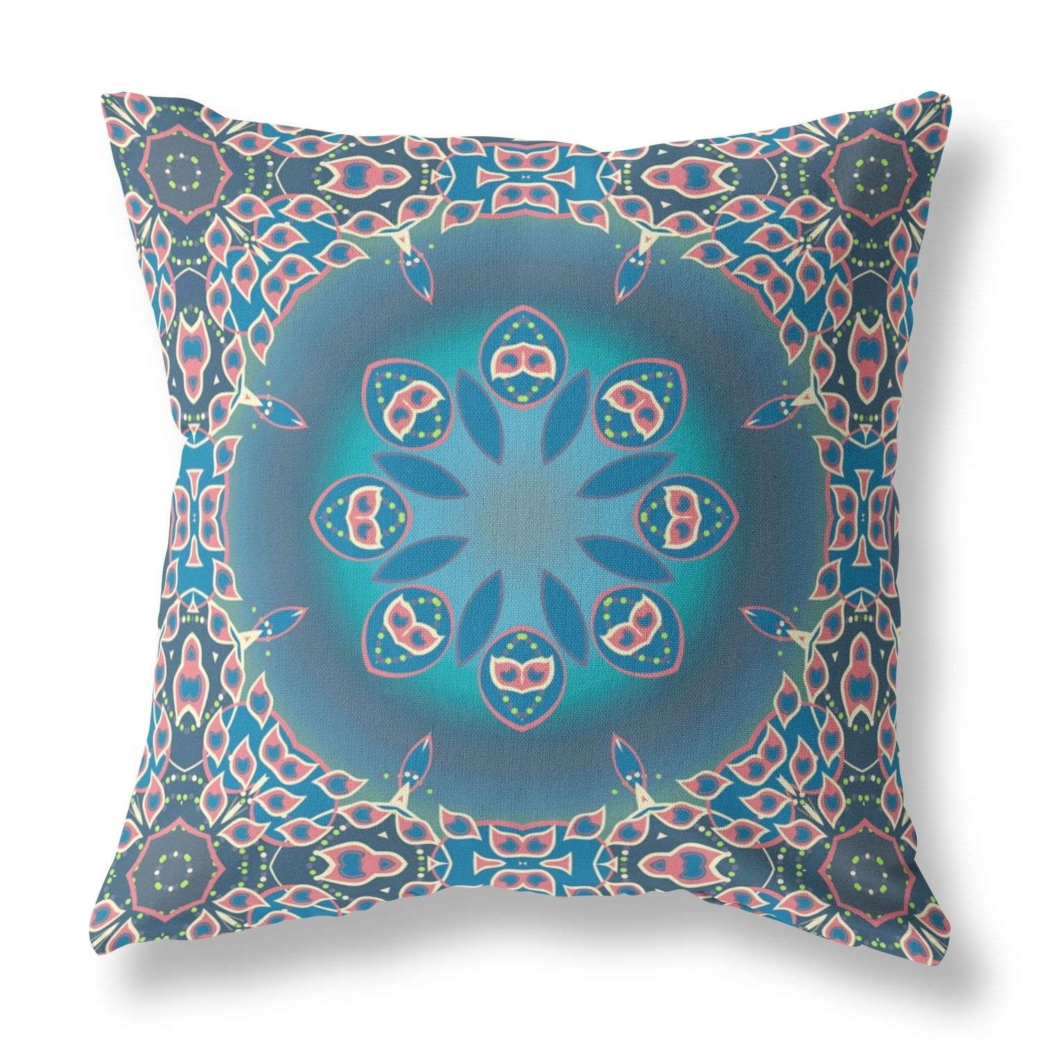 Circle of jewels broadcloth pillow by amrita sen