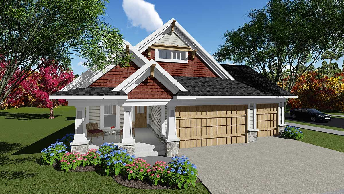 Plan 890006AH 2 Bed Craftsman Charmer with