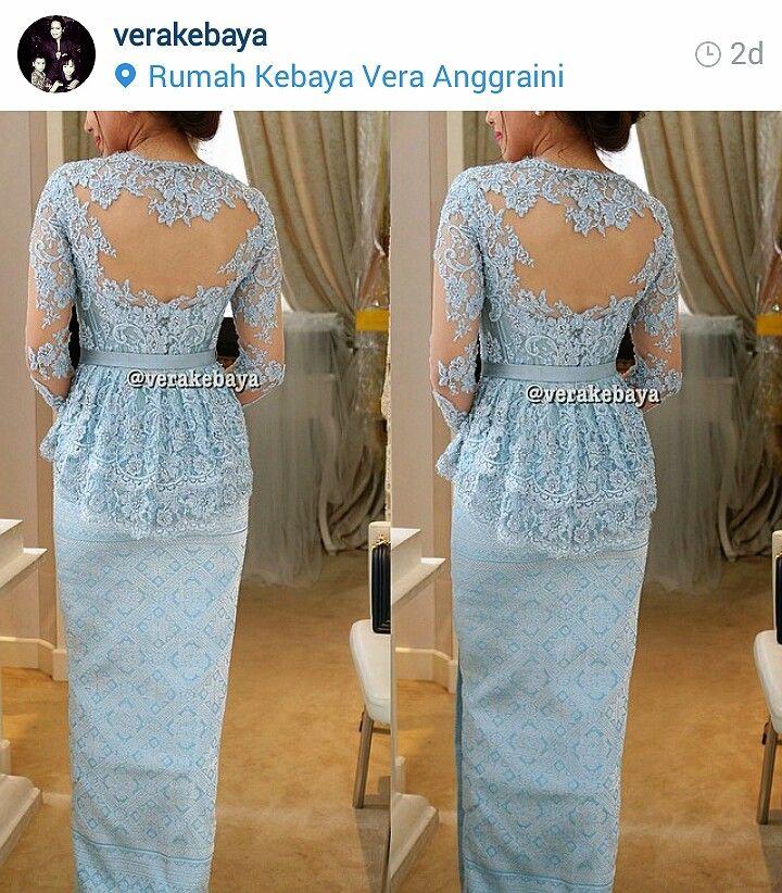 Kebaya Biru Love It Kebaya Kebaya Dress Vera Kebaya