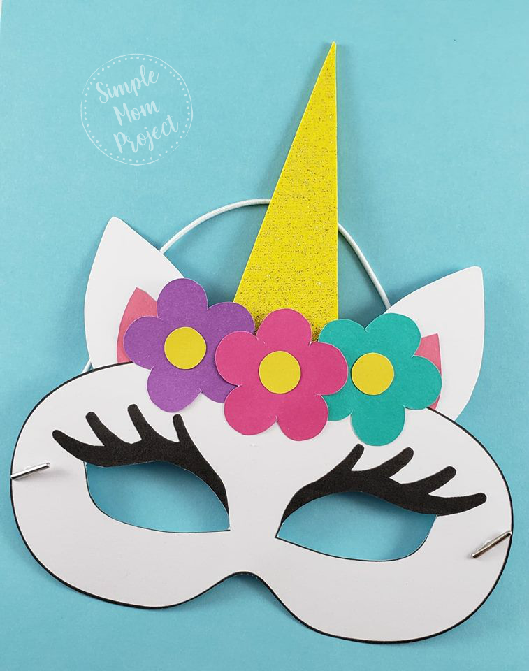 Unicorn Face Masks With Free Printable Templates Arts And Crafts