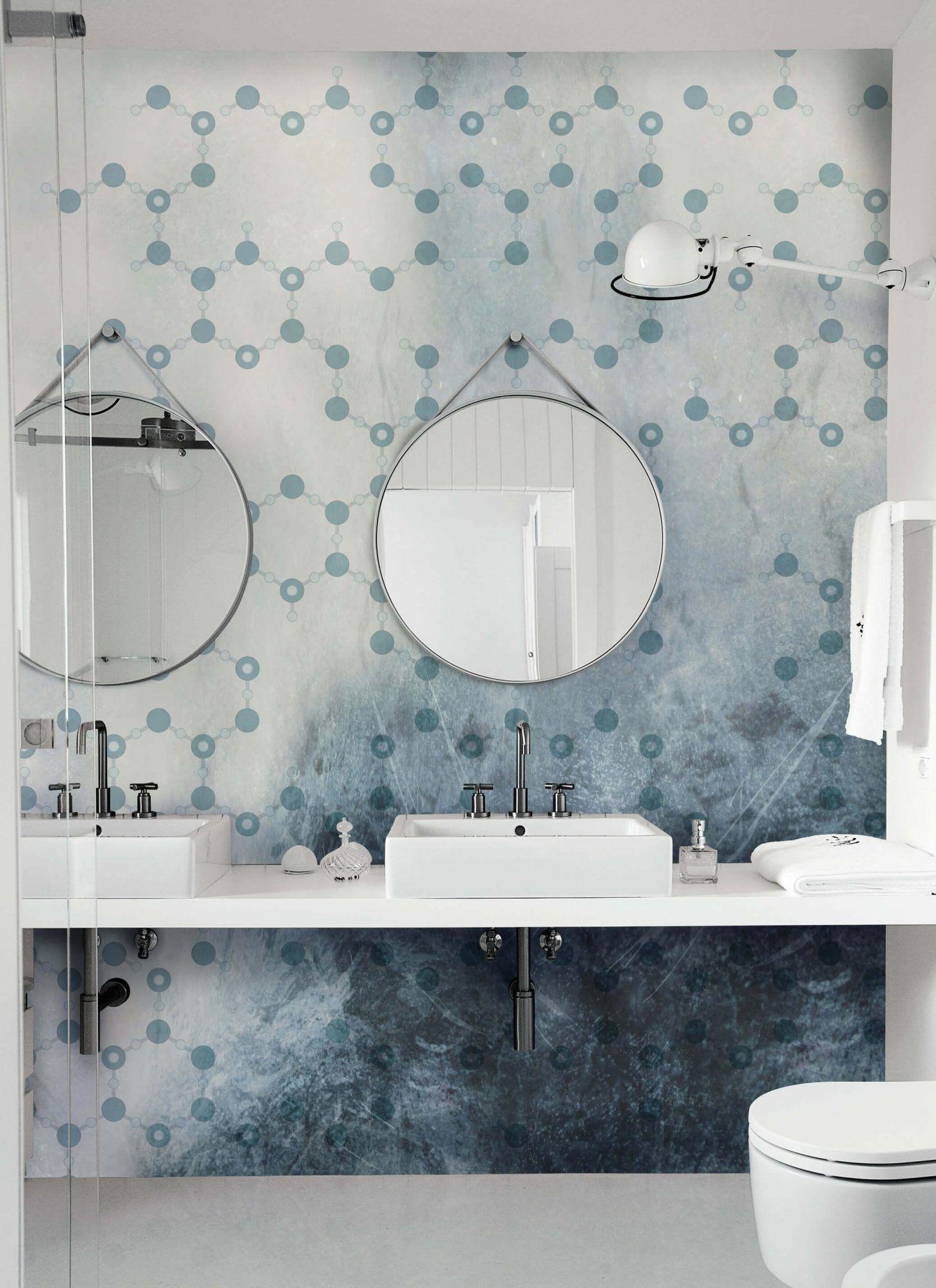 Wall Deco Wet System 16 Frozen Waterproof Wallpaper Waterproof Bathroom Wall Panels Bathroom Wall Panels Bathroom Tile Designs