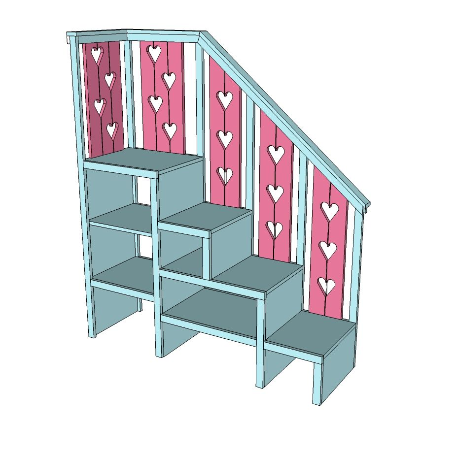 Sweet Pea Garden Bunk Bed Storage Stairs Kid Beds Bunk Beds Small Spaces Bunk Bed