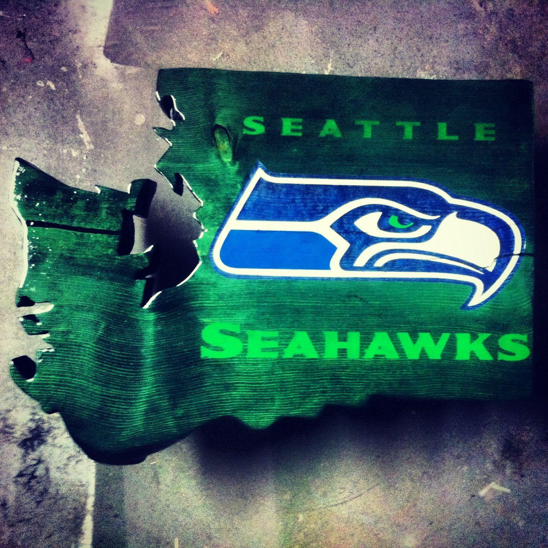 Seattle Seahawks Bar Top / Washington State/ Engraved