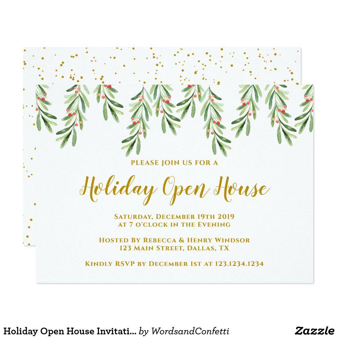 Holiday Open House Invitation Holiday Invites Ad Holiday Open House Invitations Holiday Invitations Open House Invitation