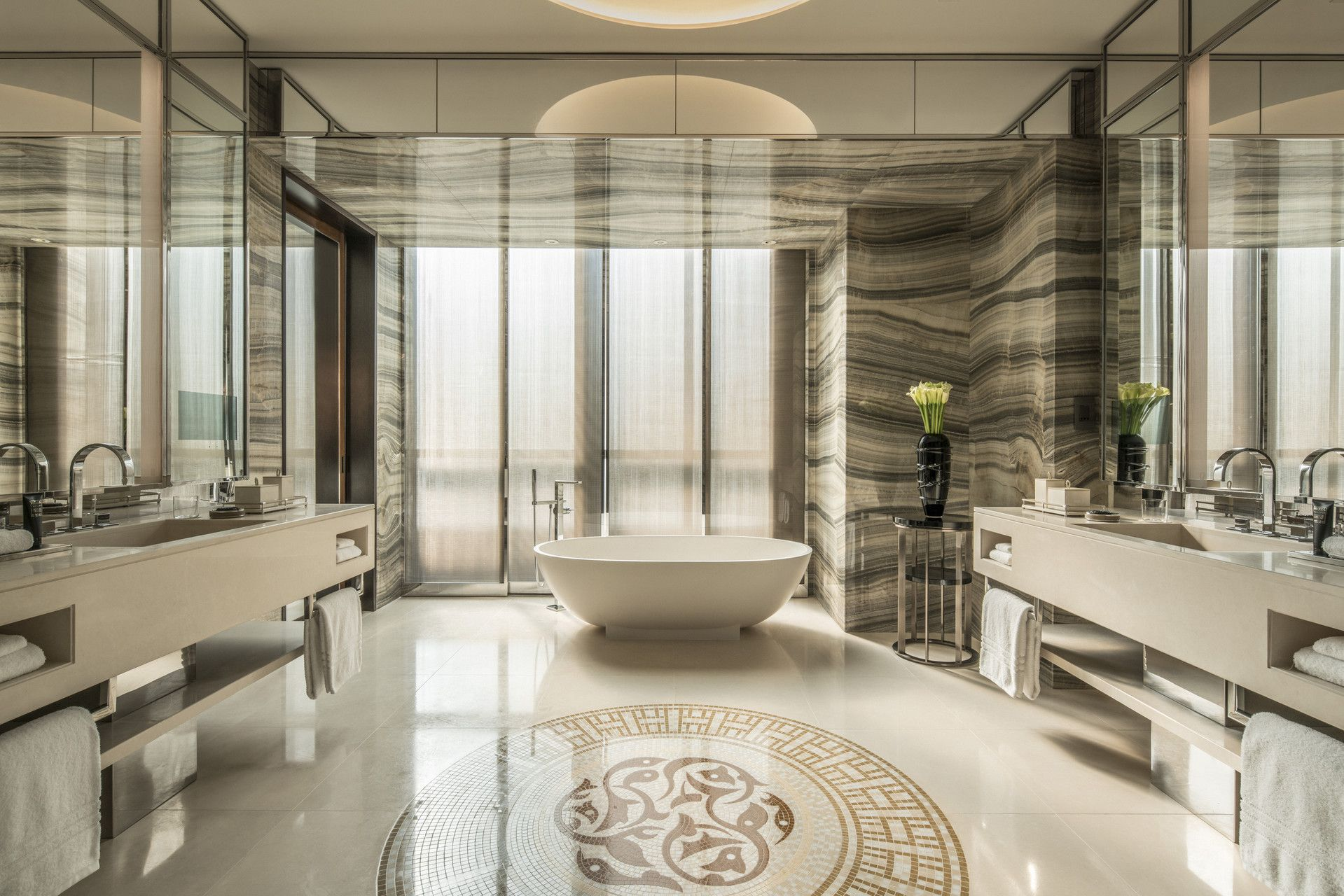 Penthouse Suite At Four Seasons Hotel Dubai Difc Luxury Hotel Bathroom Bathroom Design Luxury Bathroom Accessories Luxury