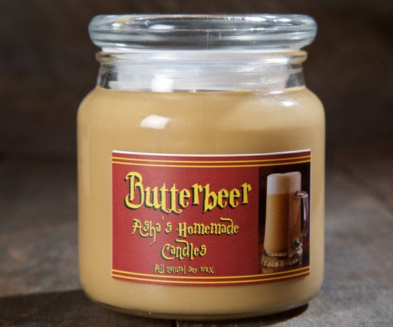 Harry Potter Butterbeer Soy Candle | 16 oz. | All Natural Soy Wax | Geek Gift Idea #affiliate