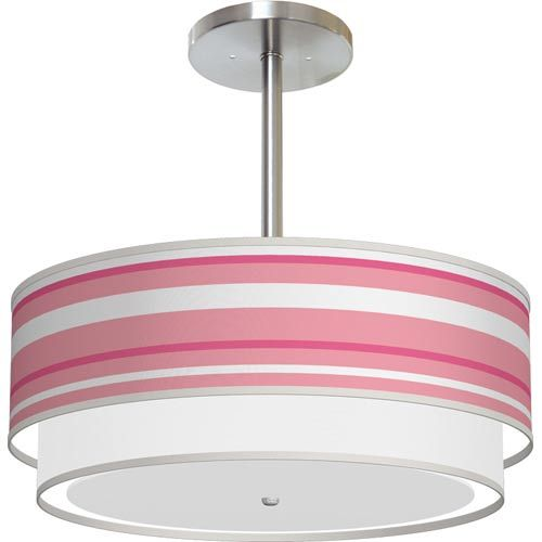Bedroom Color Ideas India Ceiling Design Ideas For Bedroom Cool Bedroom Lighting Ideas Black White Pink Bedroom: Pink Stripes Drum Pendant With 18 X 7.5 Shade Seascape