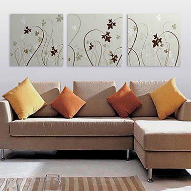 Stretched Canvas Print Art Floral Fantastic Plant Set of 3 – USD $ 59.99