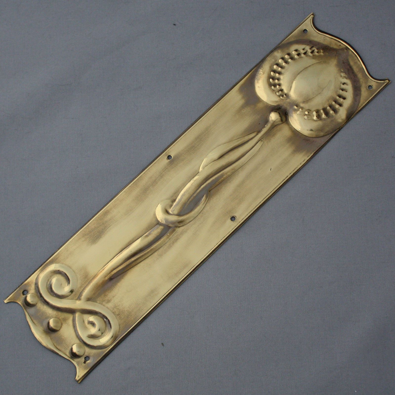 Brass art nouveau finger plate products pinterest finger and