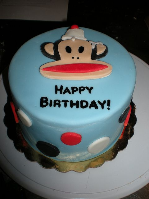 Paul Frank Monkey Cake By TipsyCake Chicago Via Flickr