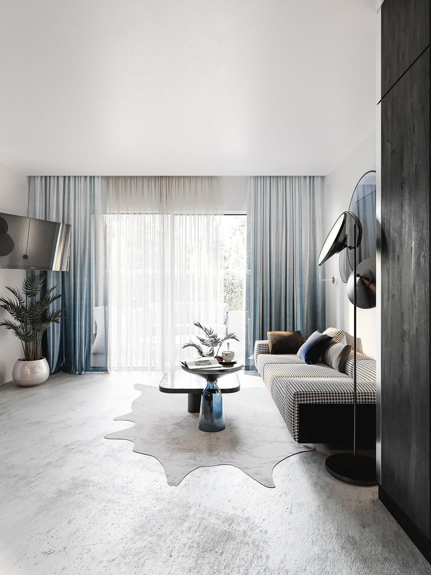 Autodesk Room Design: Stylish Cannes Apartment Design // Cgi Visualization In