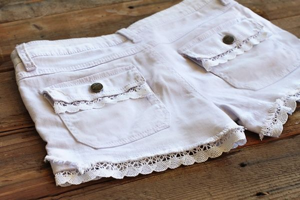 Lace Trim Lace Shorts crafts-and-diy
