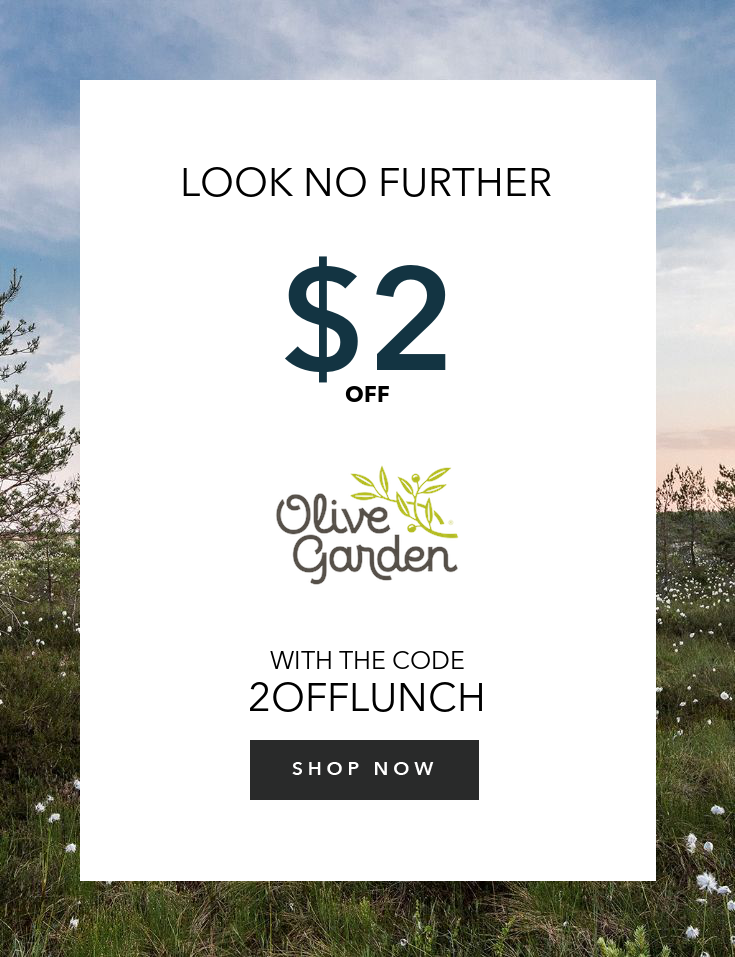2 Off Any Two Adult Lunch Entrees Olive Gardens Olive Garden
