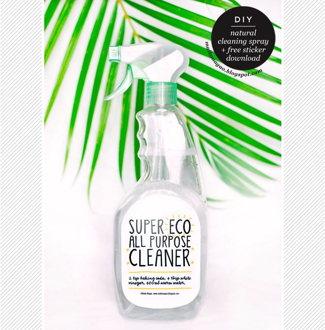 DIY: Natural All Purpose Cleaning Spray & FREE Label