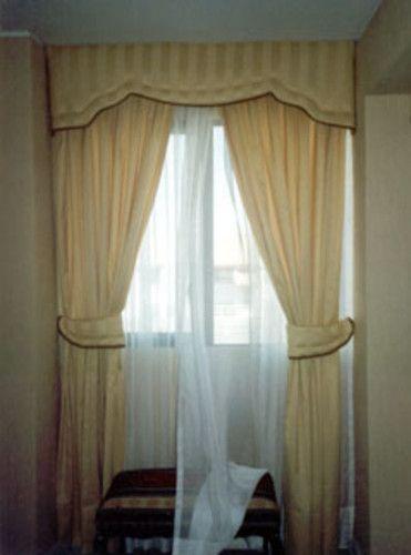 cenefa  cortina de velo fantasia cortina de jackard satin