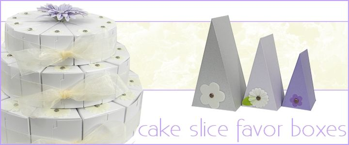 Cake slice favor boxes wedge shaped gift boxes bayley