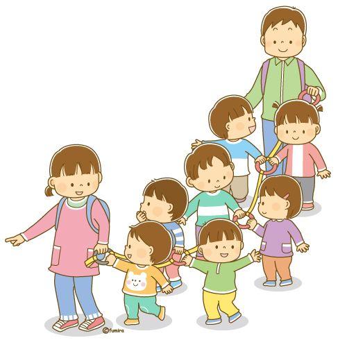 散歩をする子供たちと先生のイラスト ソフト イラスト ソフト 子供イラスト イラスト