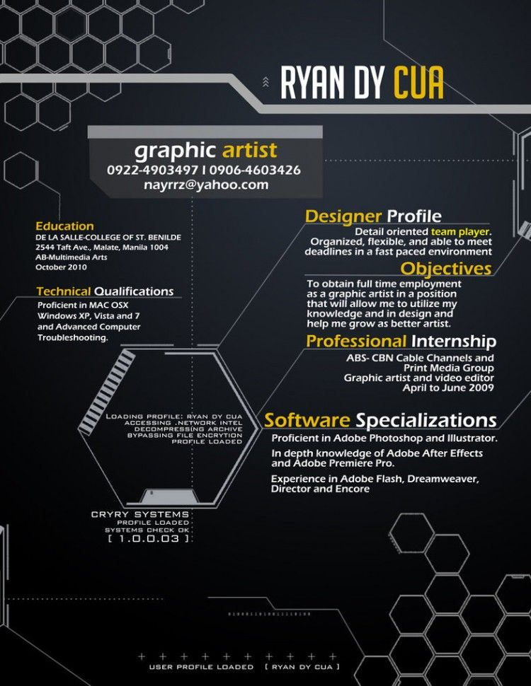 Infographic Résumés: 20 great examples