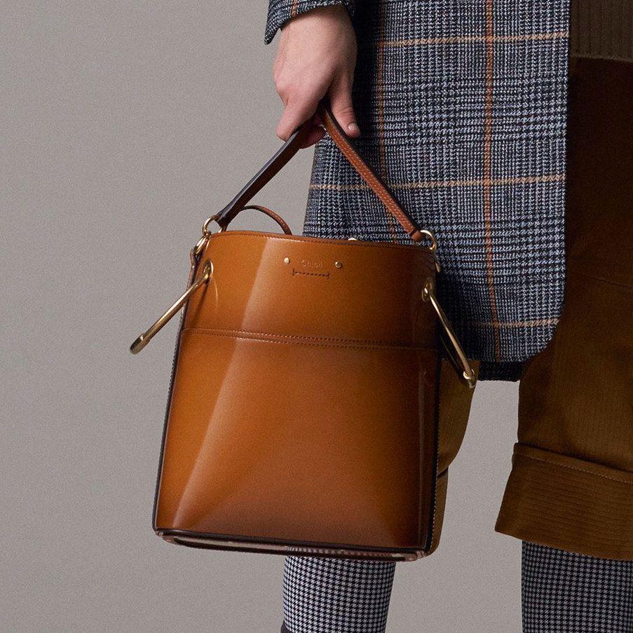 Chloe Tan Patent Bucket Bag Pre Fall 2018 Bags Bucket Bag Chloe