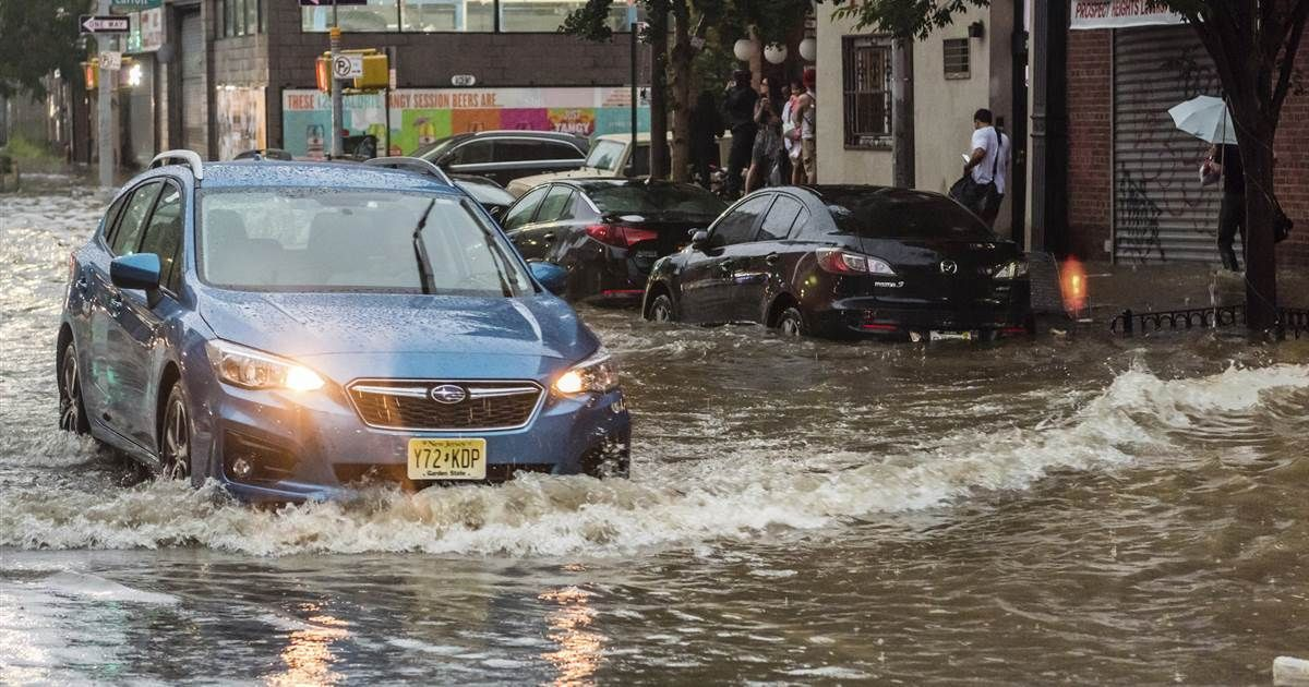 After heat wave, New York City area slammed with flooding
