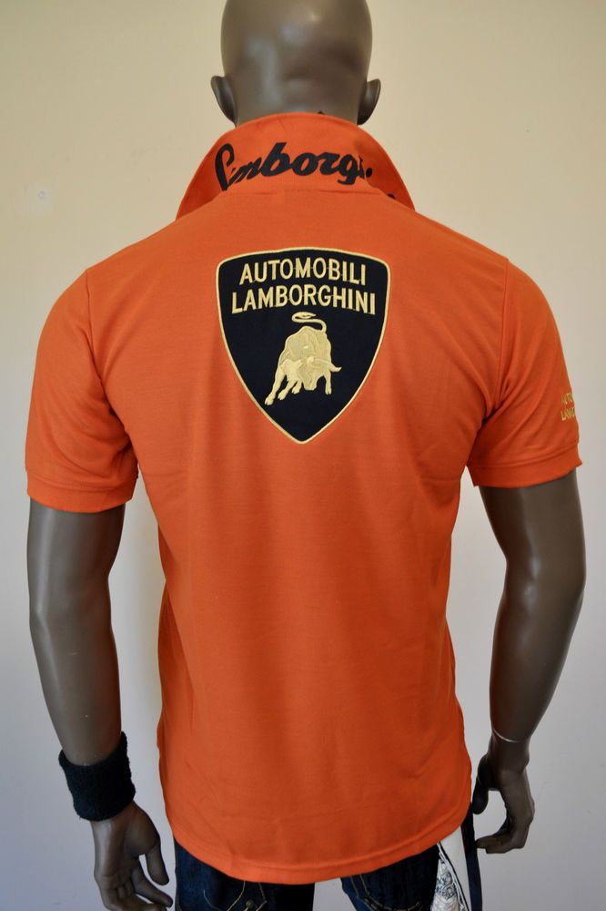 Automobili Lamborghini Smart Casual Polo T Shirt
