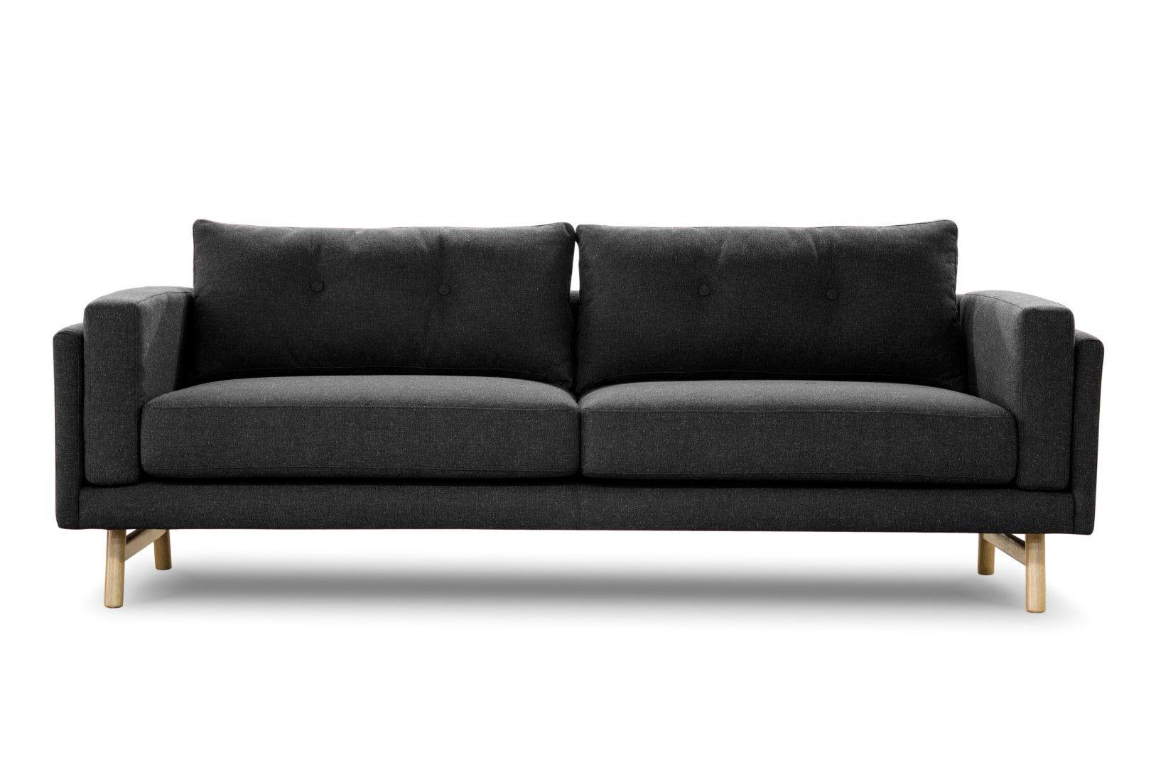Buy Ladbroke Large 3 Seater Fabric Sofa In Edinburgh Bible Black